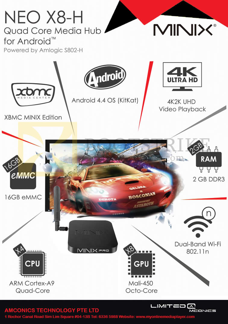 COMEX 2014 price list image brochure of Amconics Minix Neo X8-H Android Media Hub Media Player