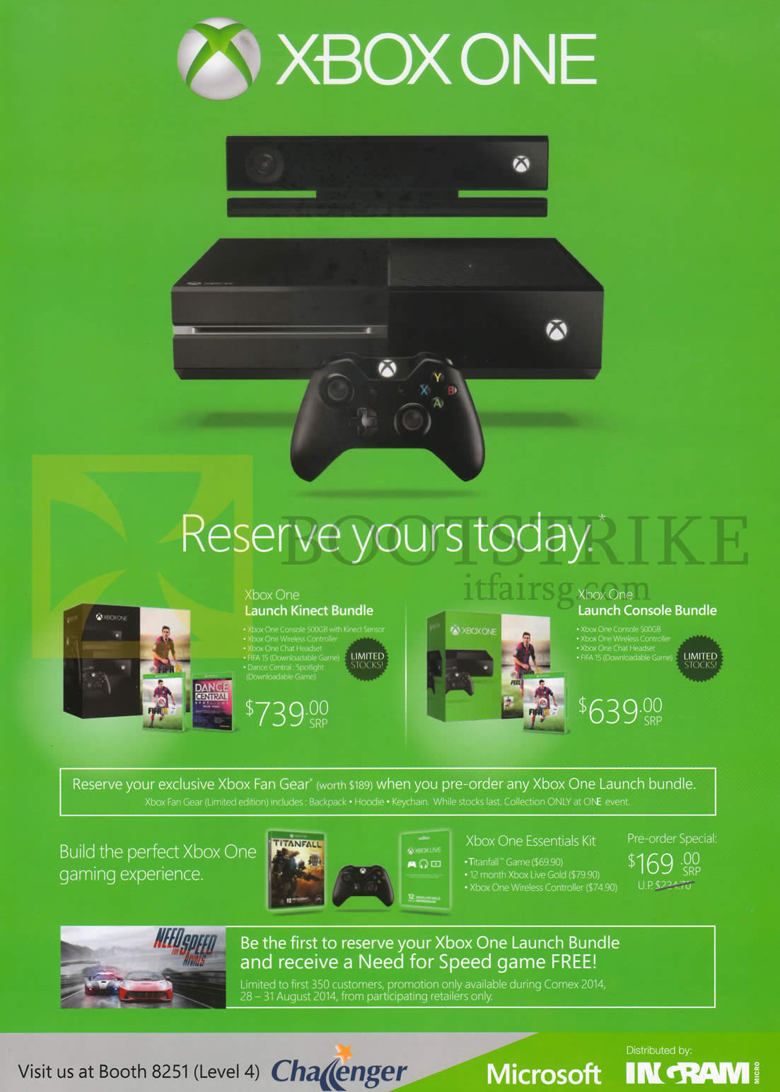 Challenger Xbox One Launch Kinect Bundle Launch Console