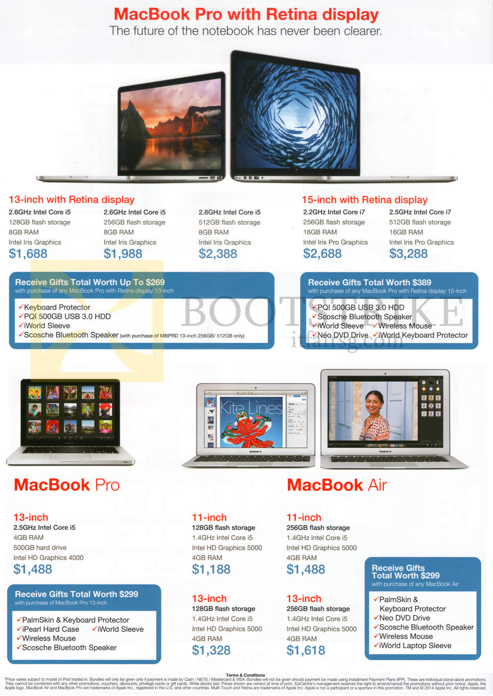 COMEX 2014 price list image brochure of EpiCentre Apple MacBook Pro With Retina Display, Apple MacBook Pro, Apple MacBook Air