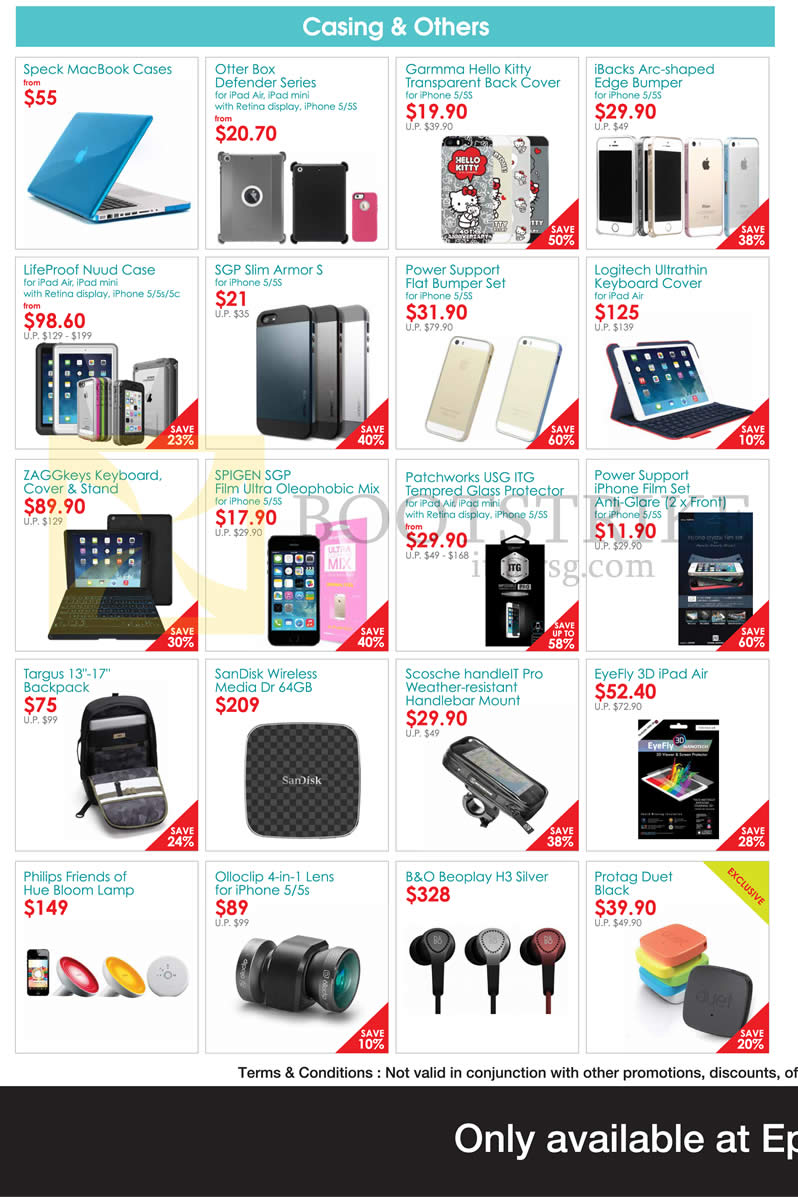COMEX 2014 price list image brochure of Epicentre Casing, Accessories, Backpacks, Earphone, Lens, Lamp, Cases