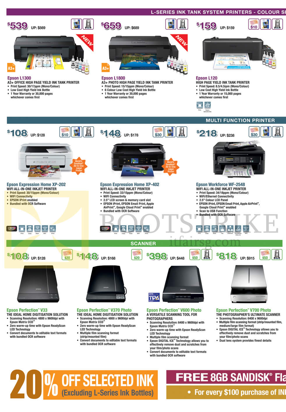 Epson Printers Scanners L Series Ink Tank System
