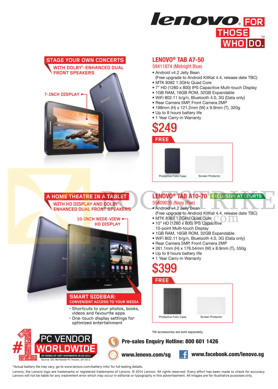 Lenovo tablets a7 50 a10 70 comex 2014 price list for O tablet price list 2014