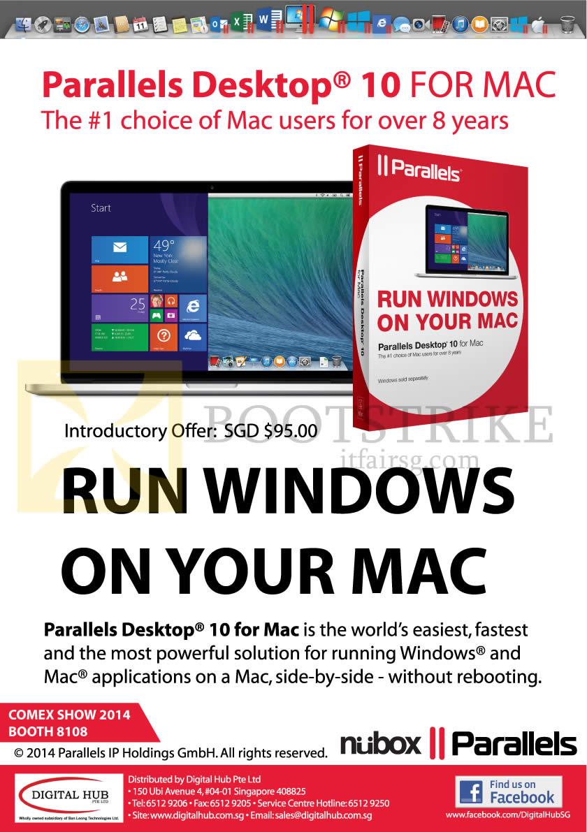 COMEX 2014 price list image brochure of Nubox Parallels Desktop 10 For Mac