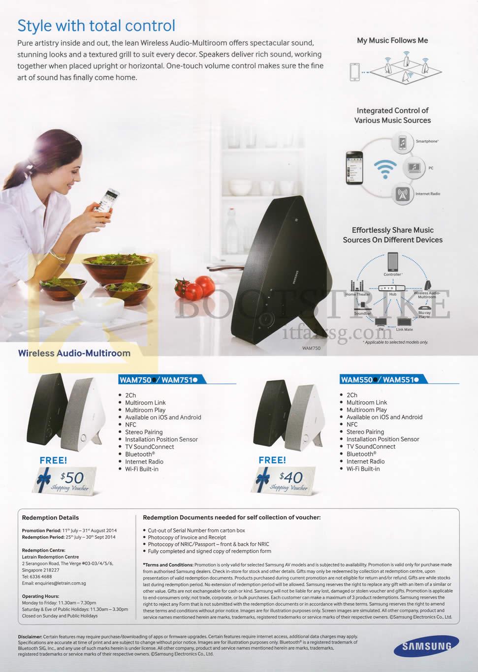 COMEX 2014 price list image brochure of Samsung (No Prices) Wireless Audio Multiroom