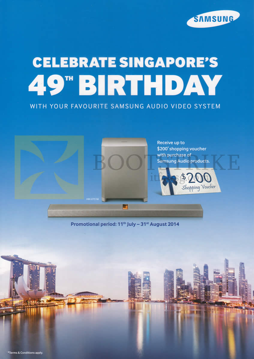COMEX 2014 price list image brochure of Samsung Audio Products Free Voucher