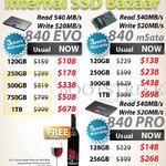 SSD Samsung 840 EVO, MSata 120GB, 250GB, 500GB, 750GB, 1TB, Pro 128GB, 256GB, 512GB