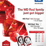 ACE Peripherals Western Digital Red Pro Hard Disk 1TB 2TB 3TB 4TB 5TB 6TB