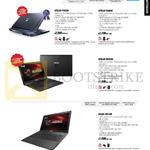Notebooks Gaming Series G750JZ-T4002H, G750JS-T4003H, G550JK-CN204H, G56JK-CN143H
