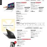 Notebooks Vivobook Touch, Performance X Series S451LB-CA011H, CA038H, S551LB-CJ100H, CJ101H, S301LP-C1017H, X452LDV-VX259H, X552LDV-SX937H, X550DP-XX106H