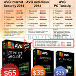 Internet Security 2014, AVG Anti-Virus 2014, AVG PC TuneUp