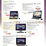 AIO Desktop PCs Aspire ZC-610, Z3-600, Z3-615, U5-620