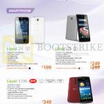 Smartphones Liquid Z4, Liquid Z5, Liquid E700