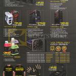 Desktop PC CPU Casing, Voltron Gold PSU, Arctic Fuel, Gaming Glove Calibre, Tarasque, T100 Tomo, T200 Toro, T300 Toxo, Hectoron T3X, Teratron T7, Ziitron T8, Infinitron T9