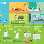 TP-Link Networking Power Banks, Wireless AC Router, AV500 Nano Powerline Adapter, AV500, Wi-Fi Clone Powerline Extender
