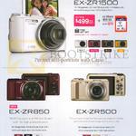 Digital Cameras EX-ZR1500, EX-ZR850, EX-ZR500