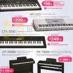 Keyboards CTK-1200, CTK-3200, WK-225, PX-780M, AP-250BK