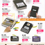 Casio Labellers Labemo, Label It, MEP-T10, KL-7400, MEP-K10, KL-120, KL-60, KL-820, Stamp Maker Pomrie