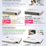 Pro Sound N Vision Projectors XJ-M141, XJ-M255, XJ-A142, XJ-A257