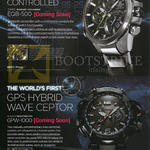 Casio Wrist Watches Edifice EQB-500, G-Shock Gravitymaster GPW-1000