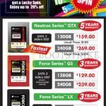 Corsair SSD Neutron Series GTX, Force Series GS, Force Series LX