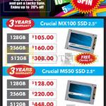 Crucial MX100 SSD, M550 SSD