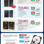 HGST External Storage Drive Touro Mobile, Touro Desk, Deskstar NAS 500GB 1TB 4TB 3TB