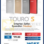HGST Touro S External Storage Drive 1TB