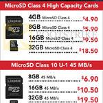 Kingston MicroSD Class 4, Class 10