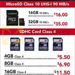Lexar MicroSD Class10 UHS-1, SDHC Class 4