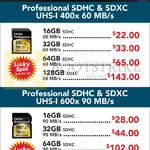 Lexar Professional SDHC, SDXC UHS-I 400x, 600x