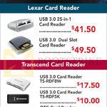 Lexar, Transcend Card Readers