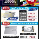 Plextor M6Pro Series SSD, Plextor M6S Sata III, MSata M2