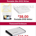 Transcend Portable DVD Writer, HDD SSD Enclosure
