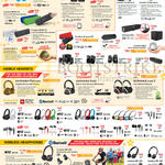 Wireless Speakers, Headsets, Headphones, Earphones, Sound Blaster Axx Airwave Woof Aurvana Hitz Draco SBX, Muvo