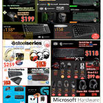 Razer Keyboards Mouse, Steelseries Headphones Siberia, Prolink Gaming, Microsoft Arc Touch Sculpt, Cooler Master QuickFire XT