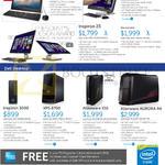 Desktop PCs AIO Inspiron 20 3000, XPS 27, Inspiron 23, Inspiron 3000, XPS 8700, Alienware X51, Aurora R4