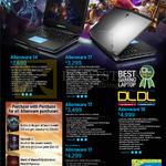 Notebooks Alienware 14, Alienware 17, Alienware 18