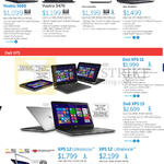 Notebooks Vostra 5560, Vostra 5470, XPS 11, XPS 15, XPS 12 Ultrabook