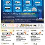 Projectors EB-S02H, X03, W03, 1776W, TW5200