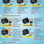 Digital Cameras (No Prices) S4800, S8200, SL1000, HS35EXR, HS55EXR, S1, X-S1, XF1