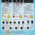 Digital Cameras (No Prices) X20, X100s, XQ1, Purchase With Purchase Lens, Rebates