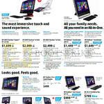 Desktop PCs AIO, Envy Recline 23-SE M210d, 23-k104d, 27-k102d, Pavilion TouchSmart 23-p021d P022d, 23tm Monitor, 22-h011d, 20-2110d, W2371d, X2401, Envy 27