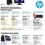 Desktop PCs Pavilion Slimline 400-337d, 400-335d, 400-336d, Envy 700-392d, 700-292d, Envy Phoenix 810-293d