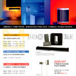 Sonos Wireless Home Theatre, Play-3, Sub, Playbar, Stereo Pair Bundle, 3.1 Bundle, 5.1 Bundle, Flexon