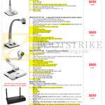 Document Cameras Hitevision TVP-040, TVP-100, TVP-022, TWP-1000
