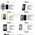 Trading Mobile Phones K2, G8000, S9500, G9000, N8000, N8800, N9000, N9800
