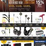 Speakers, Earphones X11i, X7i, X4i, S3M, A5i, Image One II, Status, GIG, Promedia 2.1, KMC 1, KMC 3