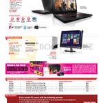 Notebooks, Desktop PC Y50-70, Q190