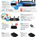 Networking Wireless Routers, USB Adapter, N-Range Extender, WRT1900AC, E1700, EA6900, AE6000, RE1000, RE2000
