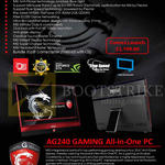 AIO Desktop PC AG240 Gaming Features